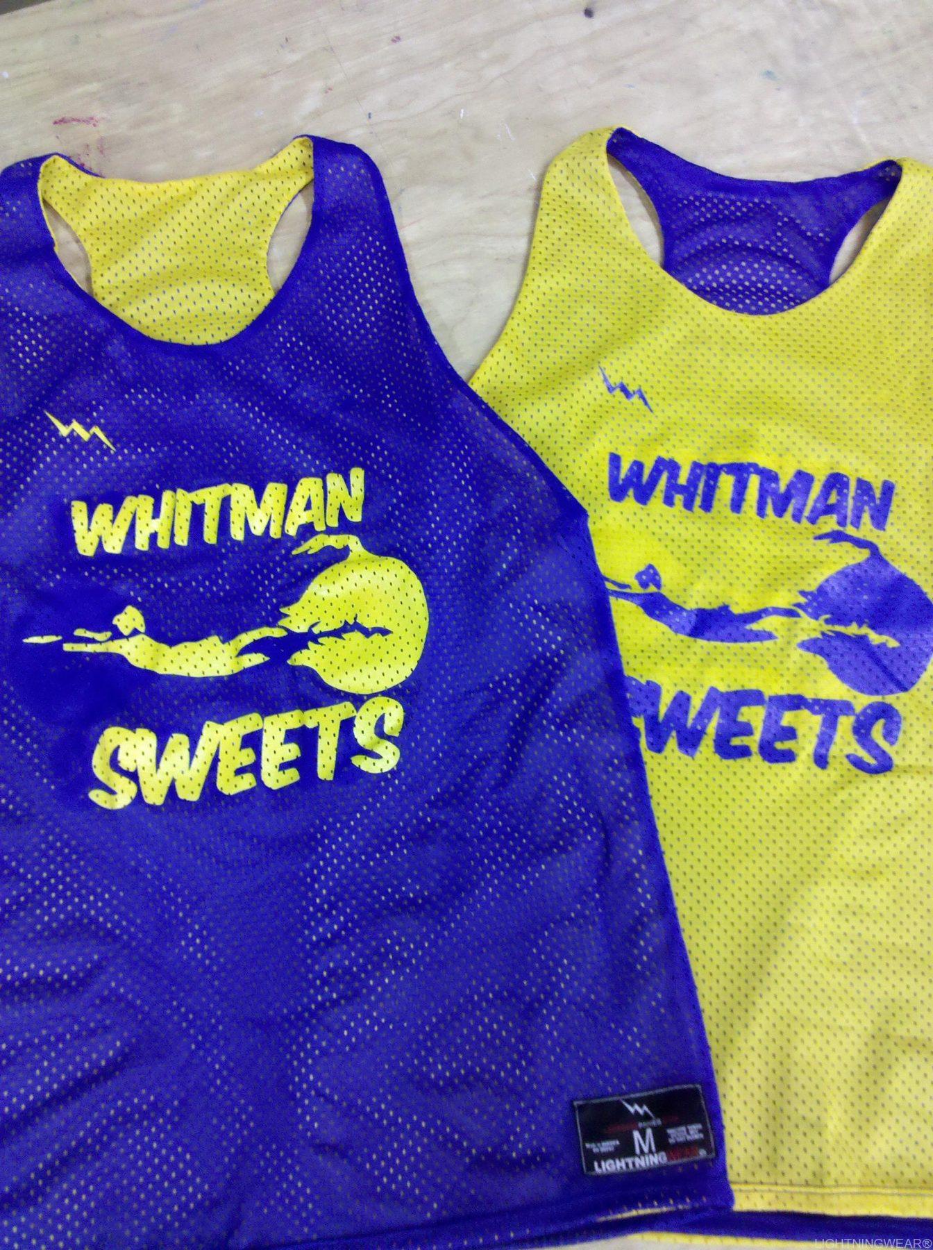 whitman sweets pinnies - racerback pinnies