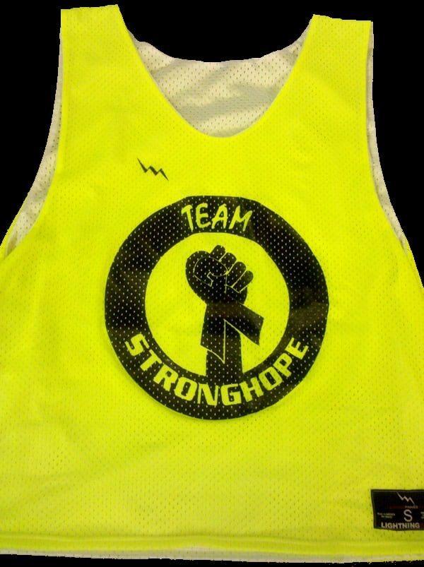 team stronghope lacrosse pinnies