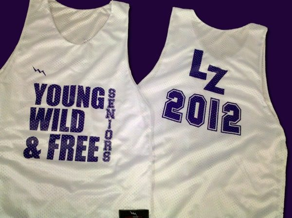 young wild and free seniors pinnies