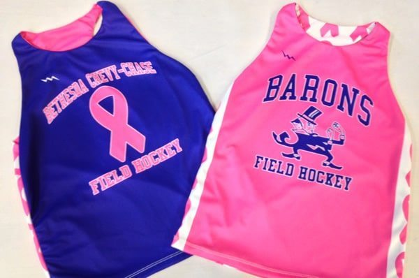 bcc field hockey pinnies - sublimated field hockey pinnies
