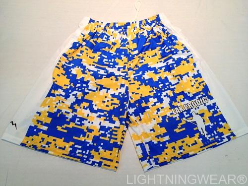 custom lacrosse shorts digital camouflage blue