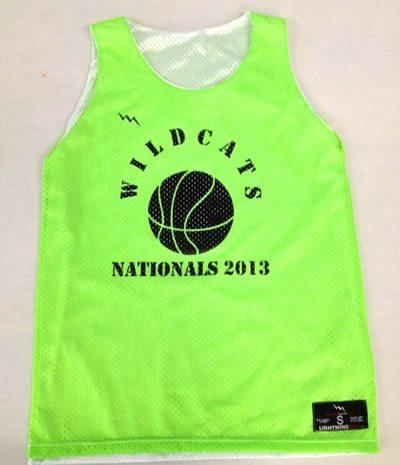 wildcats girls basketball pinnies