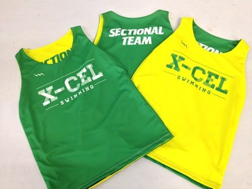 xcel swimming pinnies