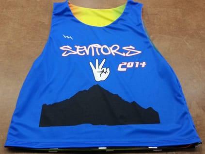seniors pinnies - custom senior class jerseys
