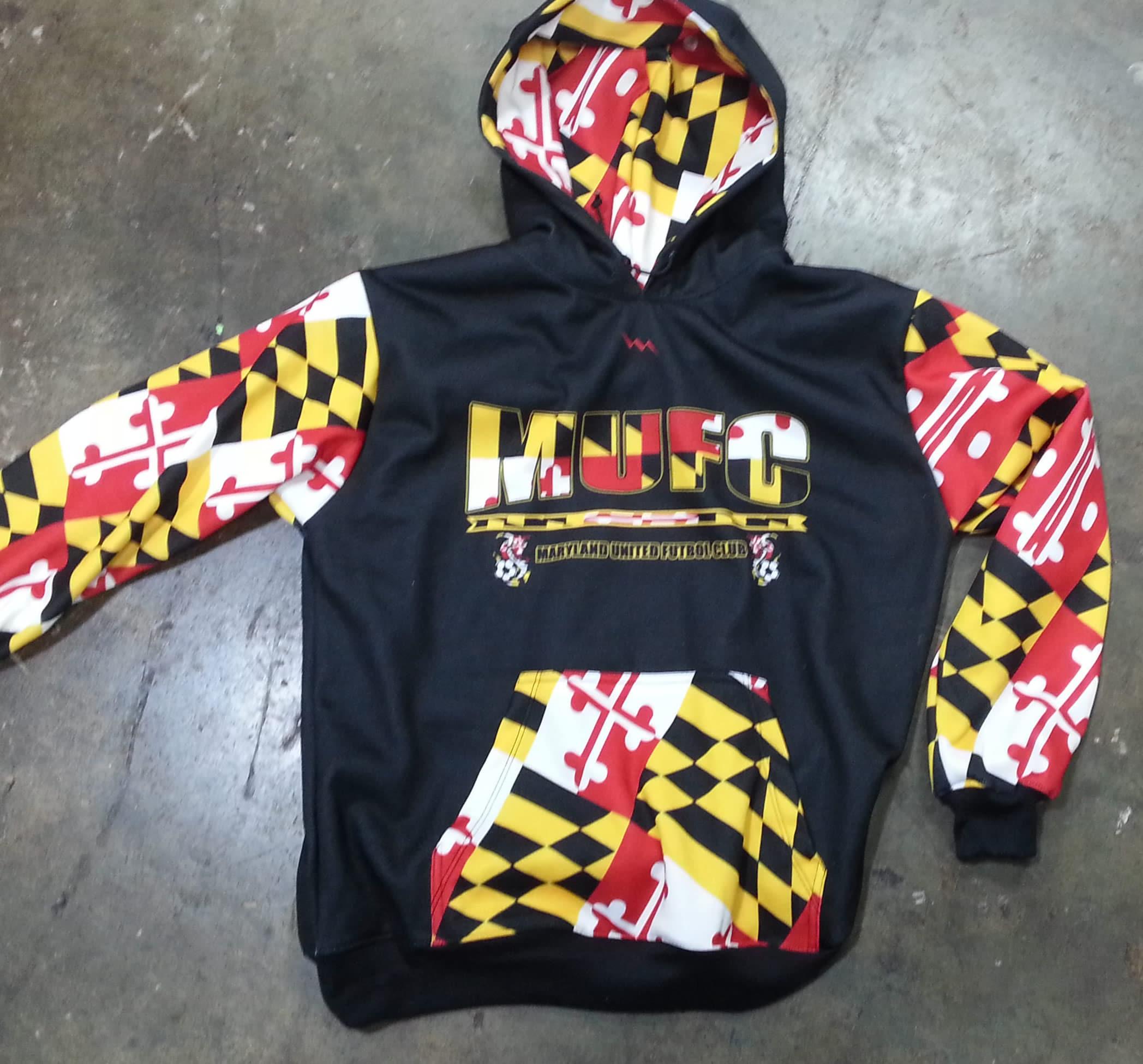 Maryland soccer sweatshirts - maryland flag sweatshirts