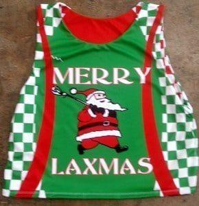 christmas lacrosse pinnies
