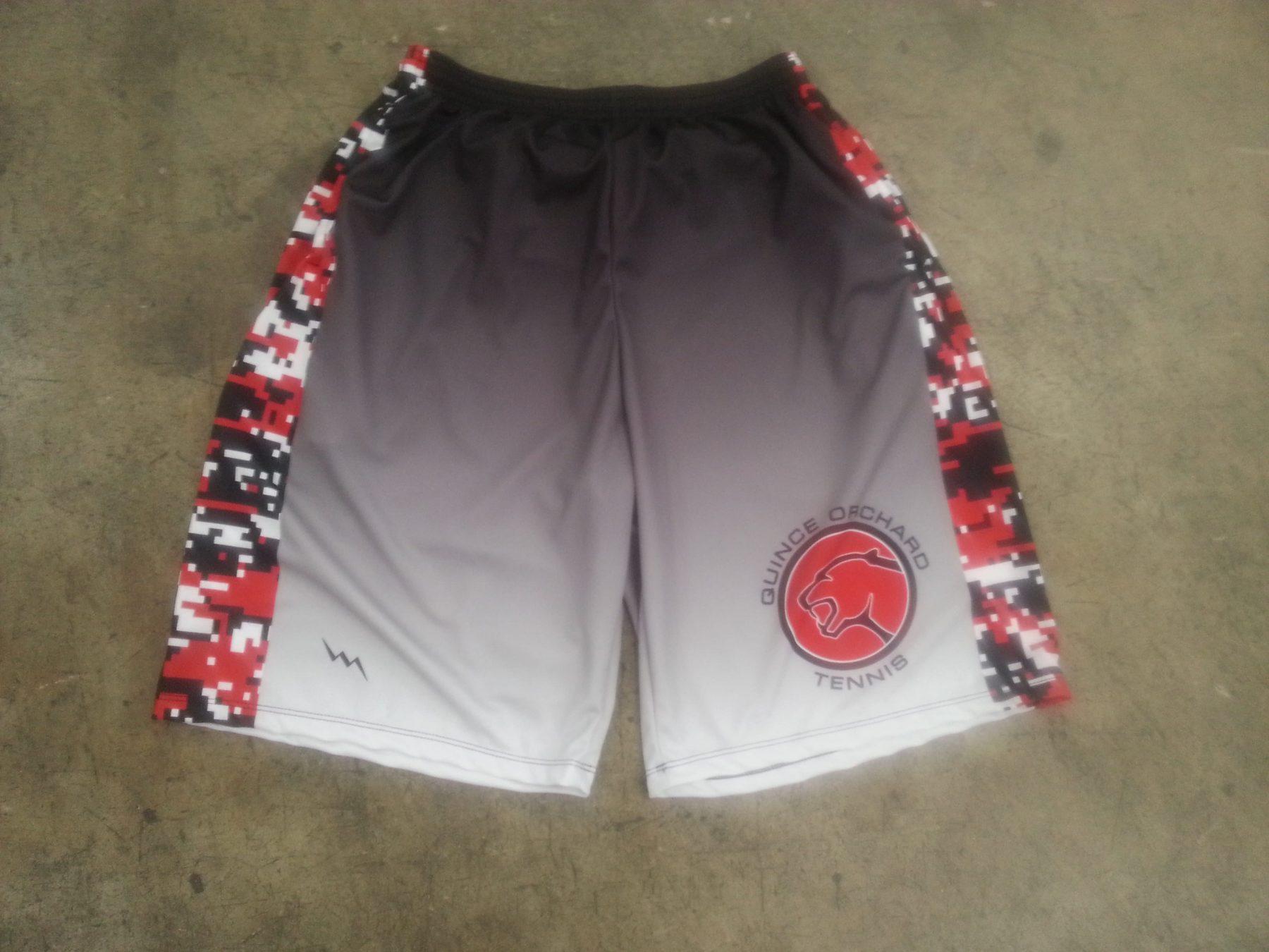 sublimated tennis shorts