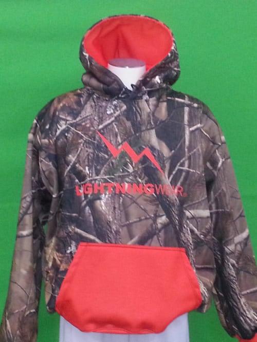 camouflage hooded sweatshirt
