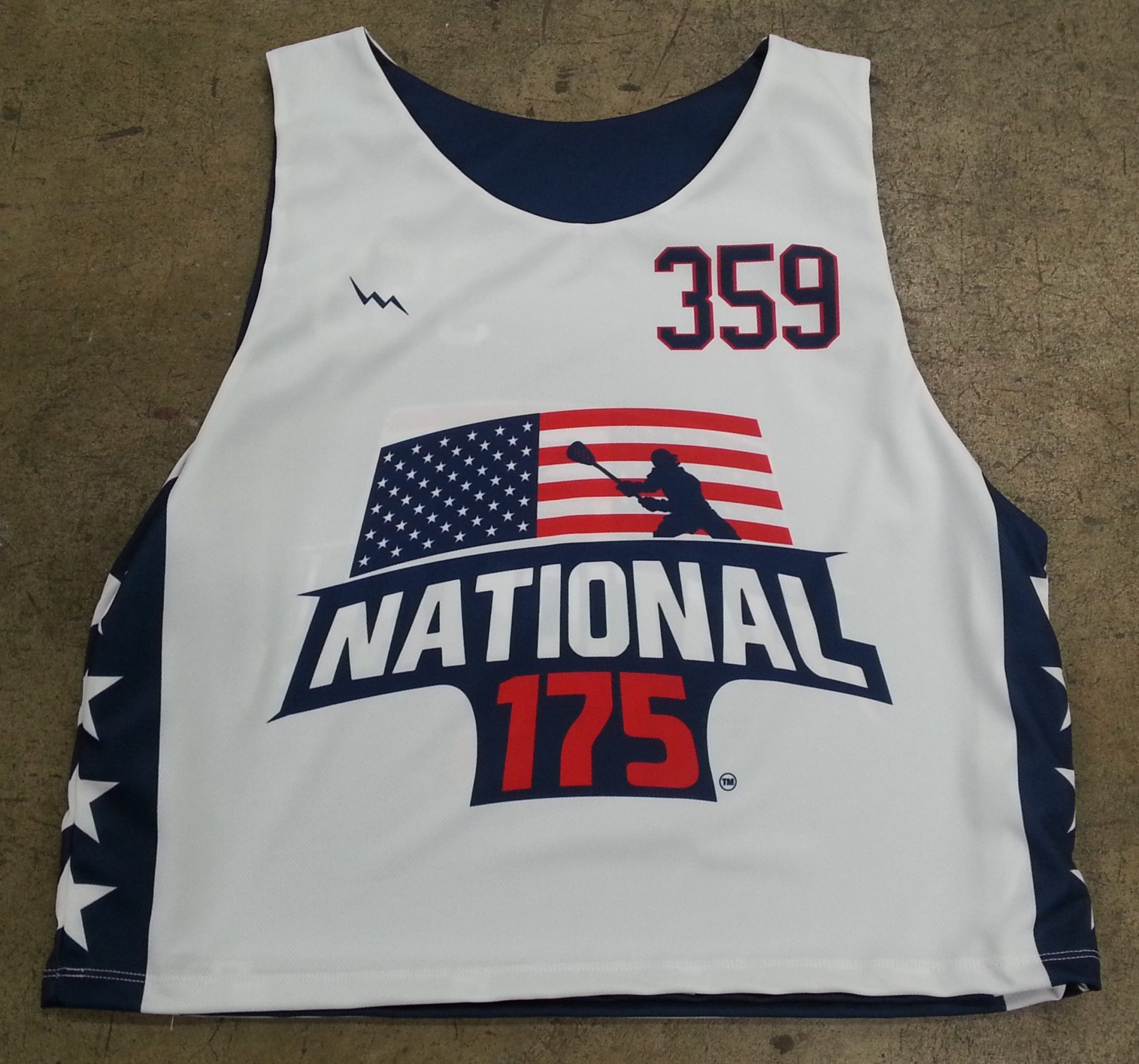 lacrosse showcase pinnies