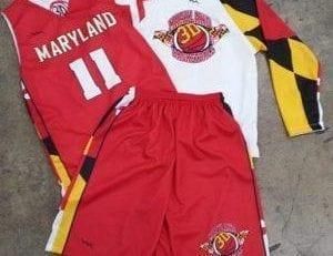 red basketball shooter shirts