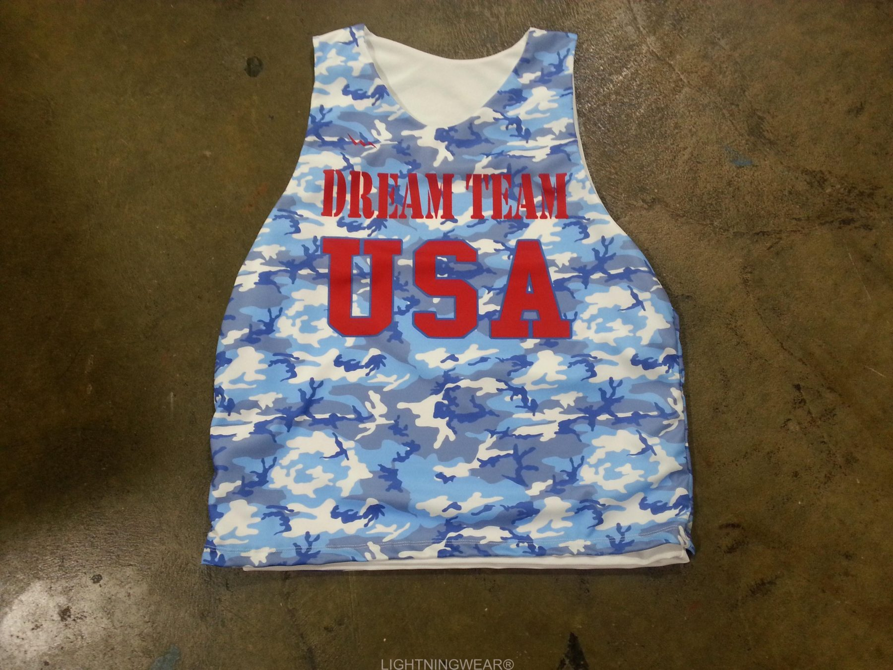 camouflage basketball practice pinnies