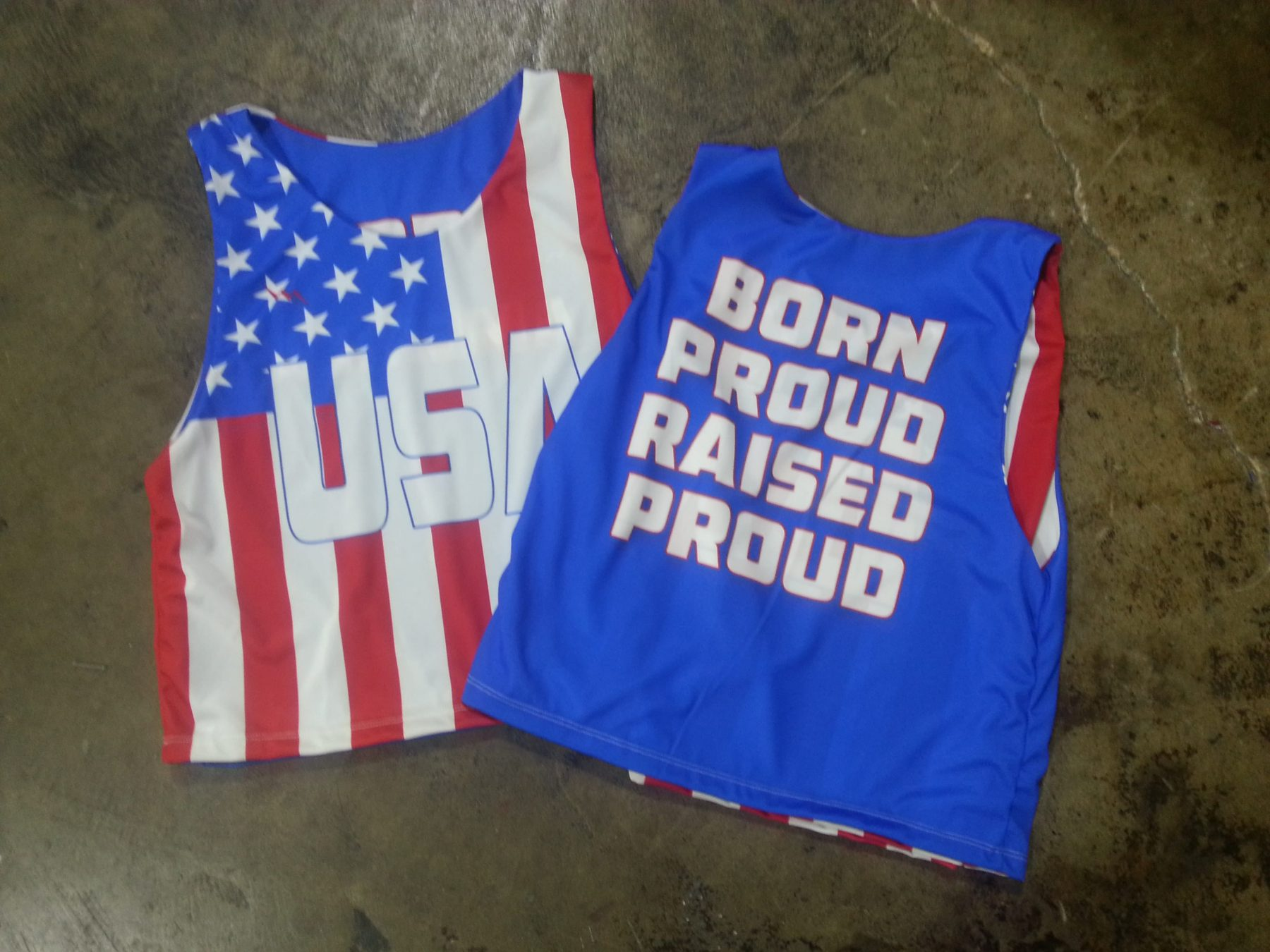 sublimated reversible practice gear