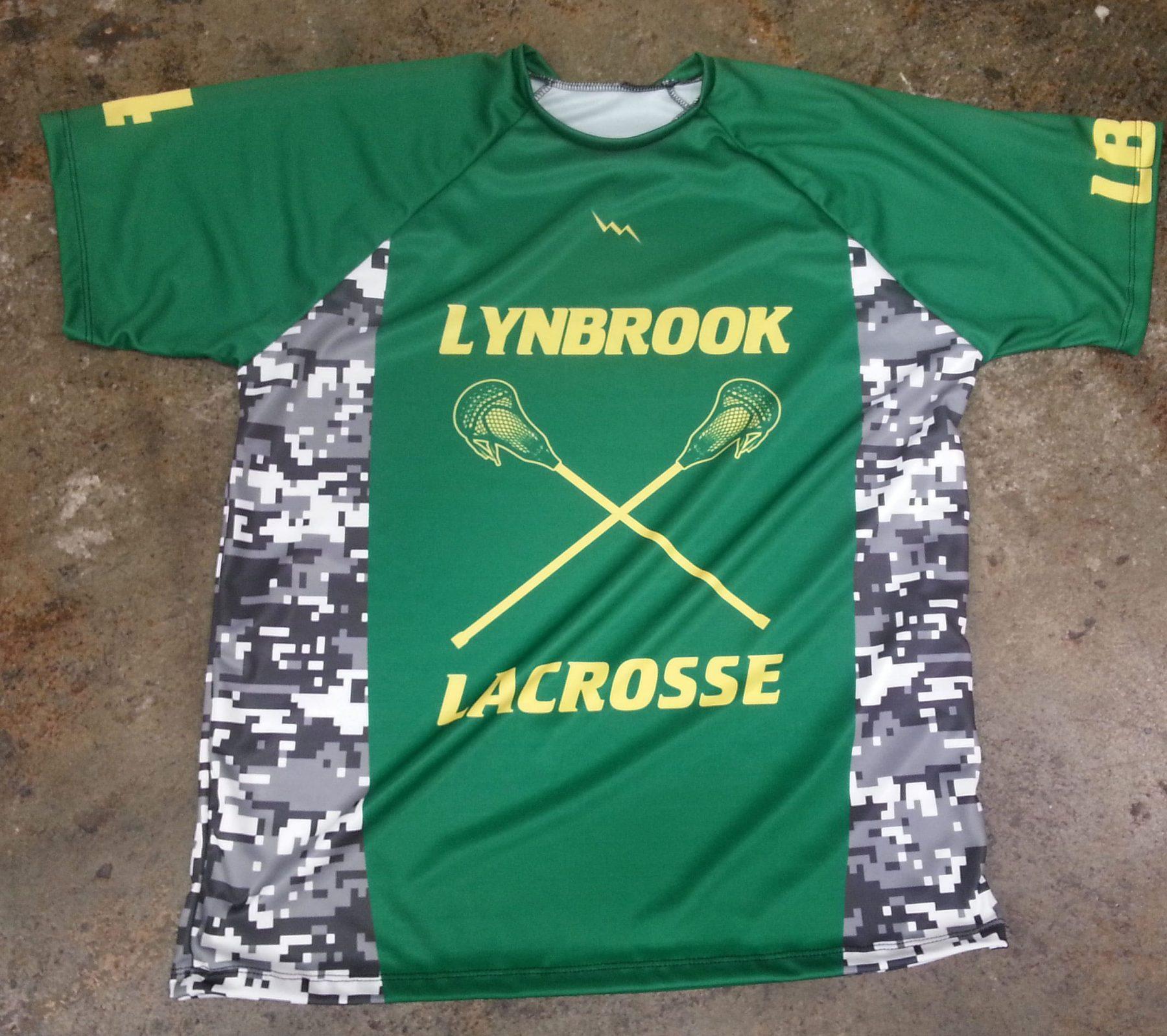 green lacrosse shirts