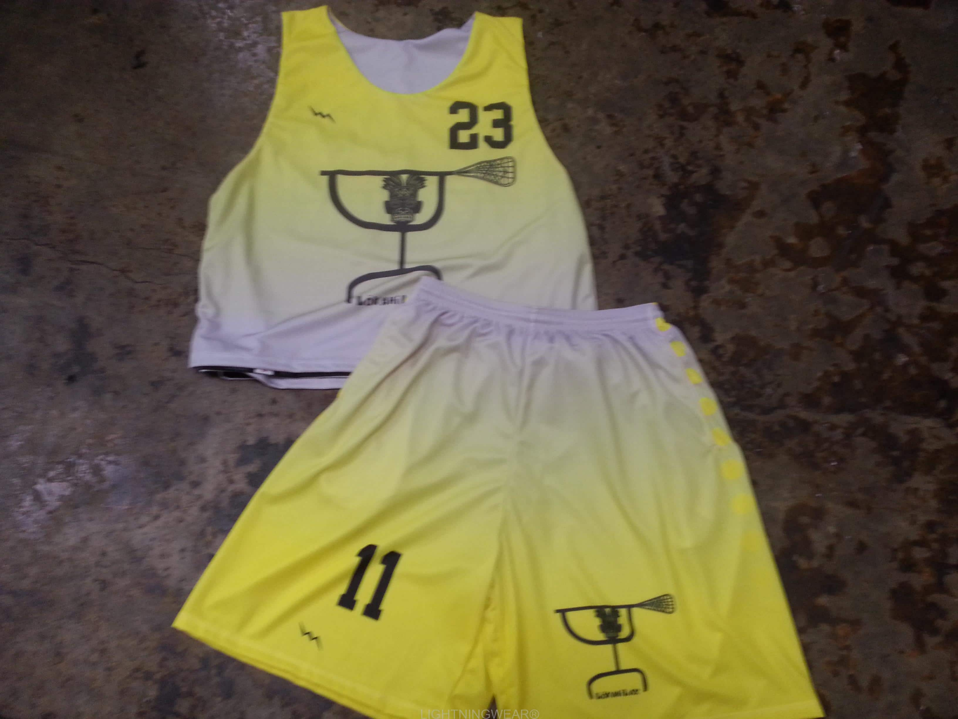 yellow lacrosse uniforms