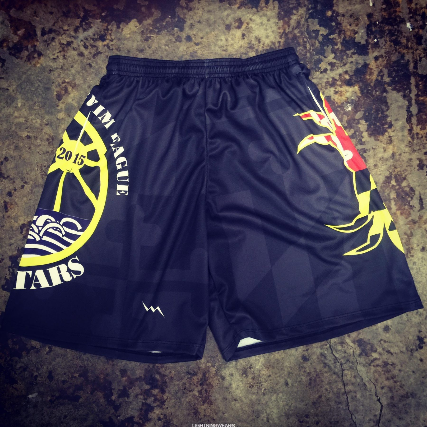 custom swim team shorts