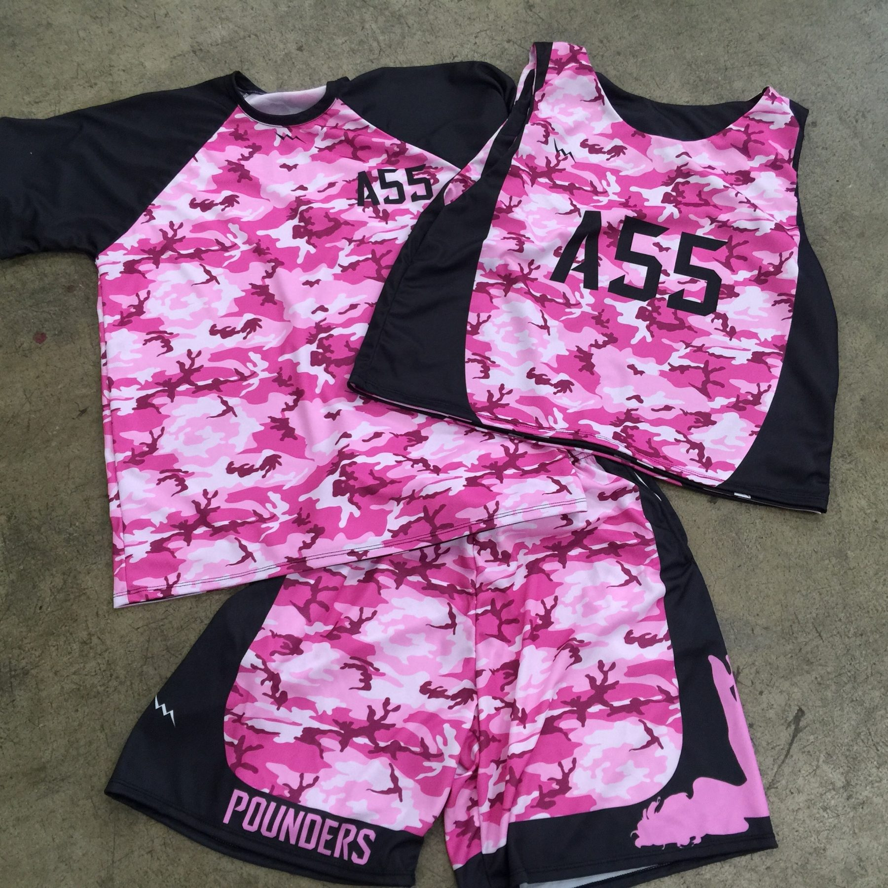 pink camouflage lacrosse uniforms