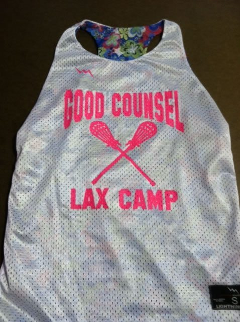 Good Counsel Lax Camp Pinnies
