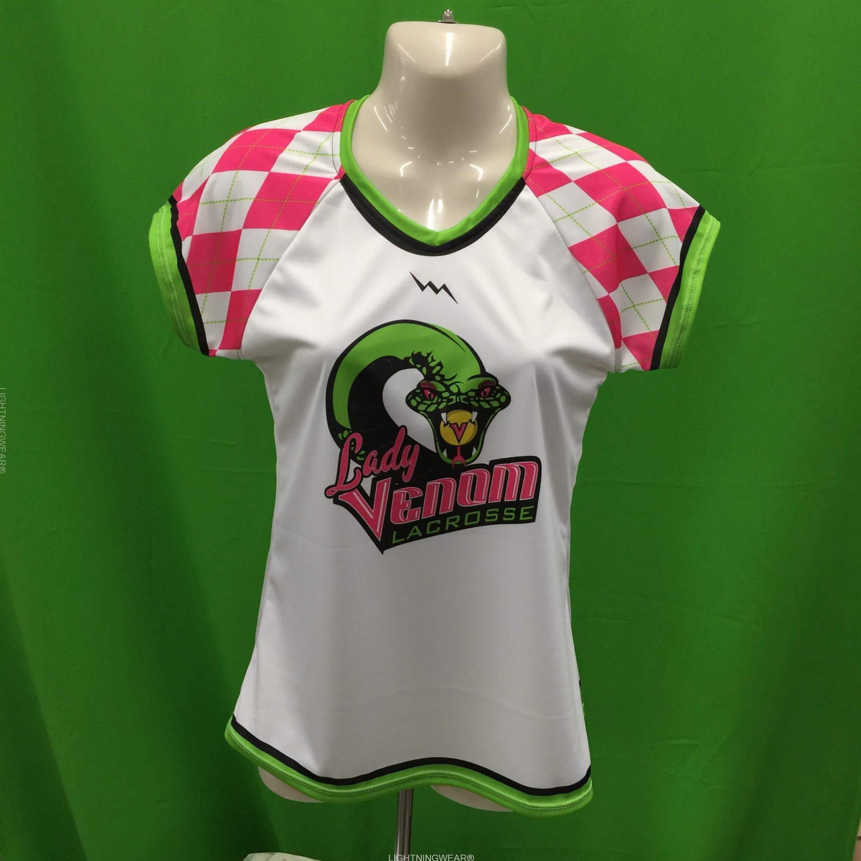 girls capped sleeve lacrosse shirts
