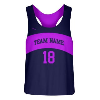 Women Sublimated Racerback Pinnies Design 2