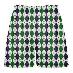 forest green black argyle lacrosse shorts