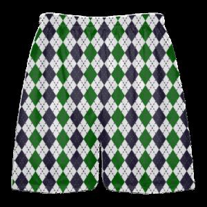 forest green black argyle lacrosse shorts