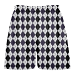 navy blue argyle lacrosse shorts