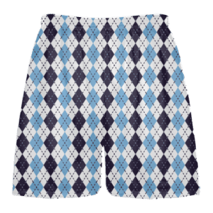 navy blue powder blue argyle lacrosse short