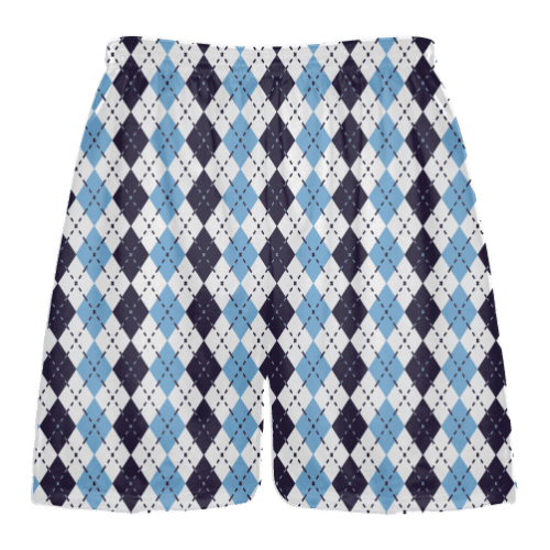 navy blue powder blue argyle lacrosse short