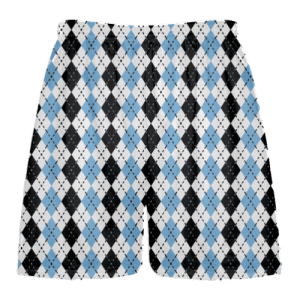 powder blue black argyle lacrosse shorts