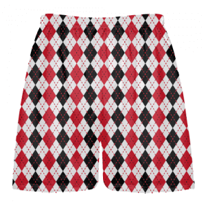 red-black-argyle-shorts