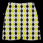 yellow black argyle lacrosse shorts