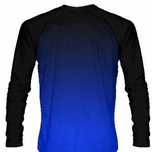 Black-Blue-Ombre-Long-Sleeve-Shirts