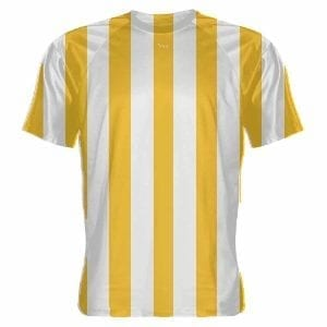 Gold-and-White-Striped-Soccer-Jerseys