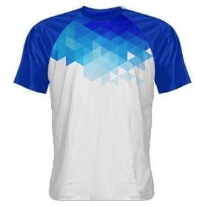 Abstract Blue Shooter Shirts - Sublimated Shooting Shirt