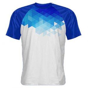 Abstract Blue Shooter Shirts - Sublimated Shooting Shirt