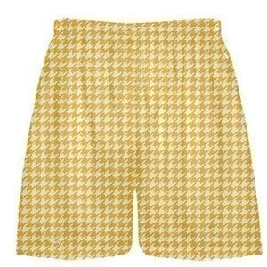 Gold Houndstooth Shorts