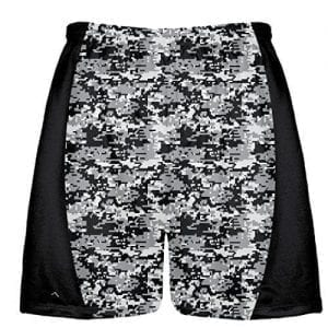 Black Digital Camouflage Lacrosse Shorts