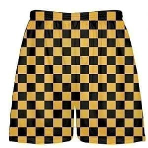 Black-Gold-Checker-Shorts