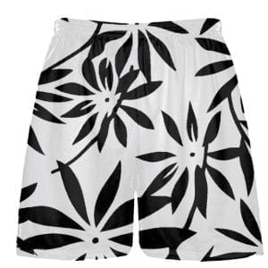 black hawaiian shorts
