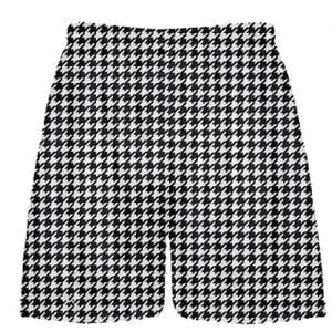 Black Houndstooth Shorts