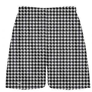 Black Houndstooth Shorts