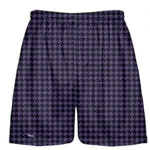 Black Purple Houndstooth Shorts