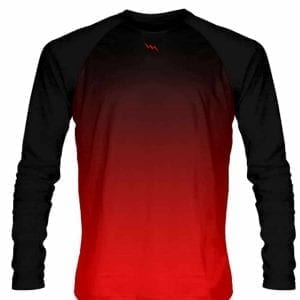 Black-Red-Fade-Ombre-Long-Sleeve-Shirts