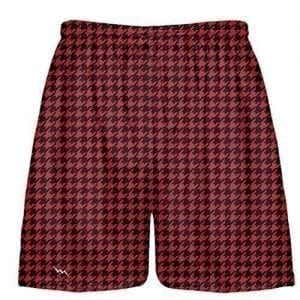 Black Red Houndstooth Shorts
