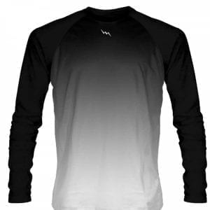 Black-White-Fade-Ombre-Long-Sleeve-Shirts