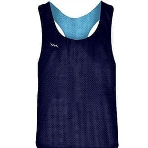 Navy Blue Powder Blue Racerback