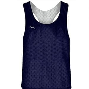 Navy Blue White Racerback