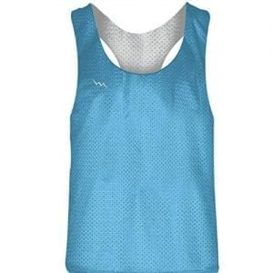 Powder Blue White Racerback