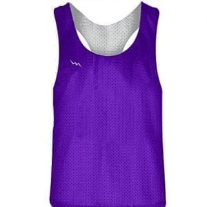Purple White Racerback