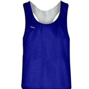Royal Blue White Racerback